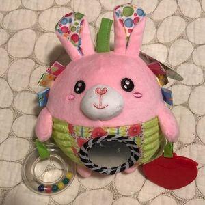 Happy Monkey NWT rattle stuffed bunny sensory ball